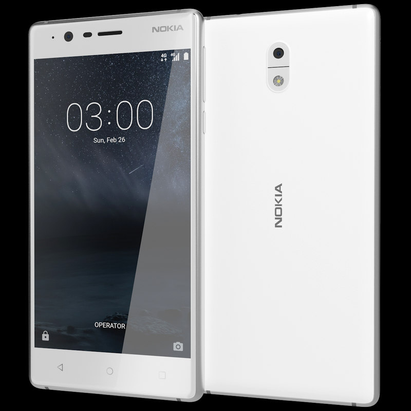 3ds realistic nokia 3 silver