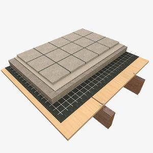 architectural concrete tiles 3d 3ds