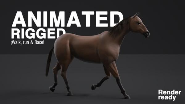 realistic horse 3d x