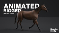 Realistic Racing Horse