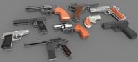 pistol 1 3d model