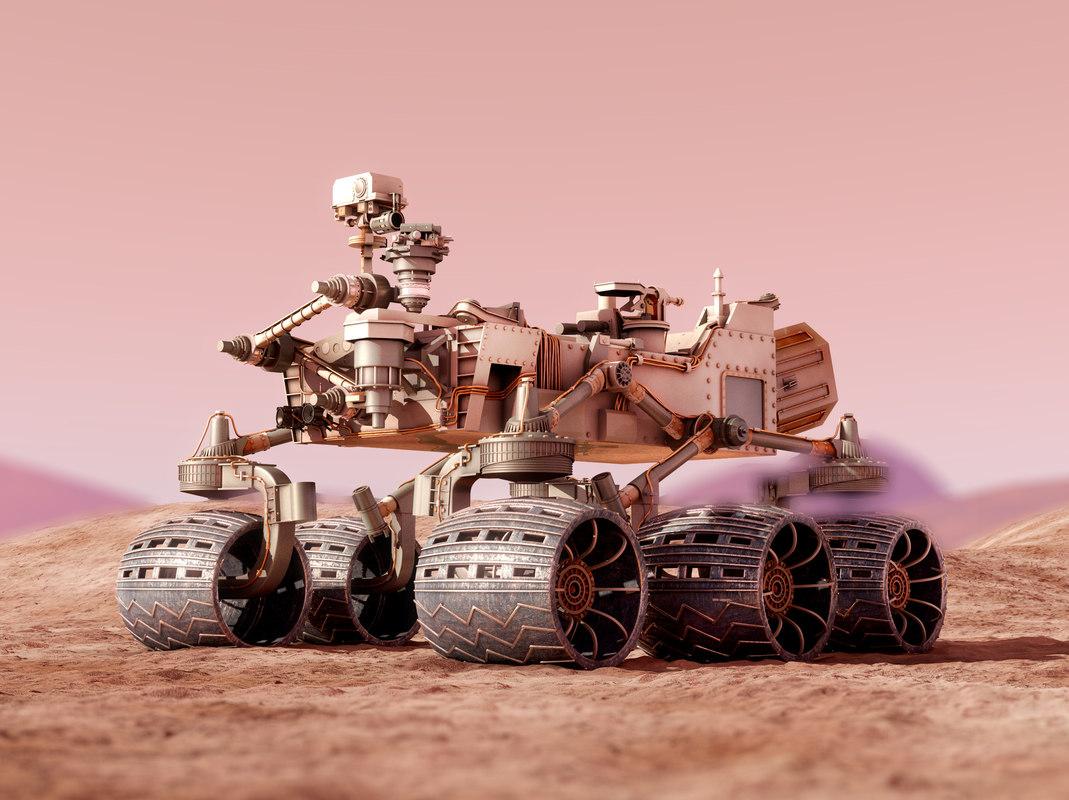 realistic curiosity rover mars 3d max