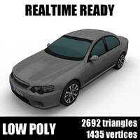 Generic low poly sedan car 003