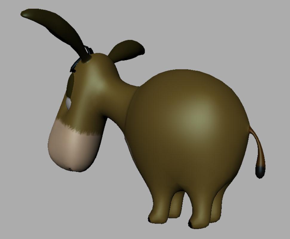 obj donkey 3 d