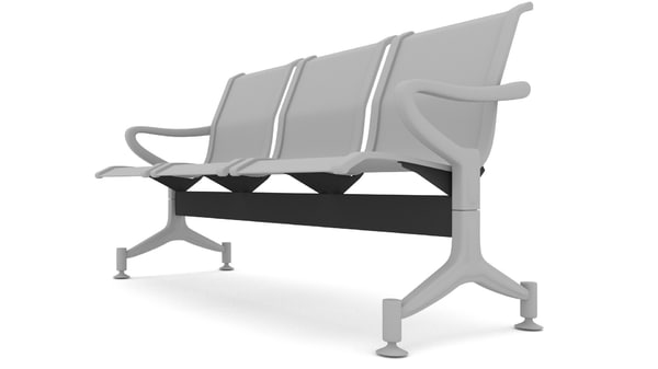 blender steel bench obj