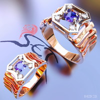 3d ring men diamonds