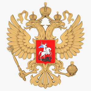 russian coat arms 3d max