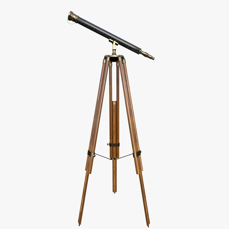 3d spyglass decor telescope