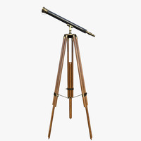 3d spyglass decor telescope
