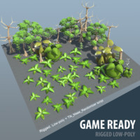 Low-poly trees ( forest set )