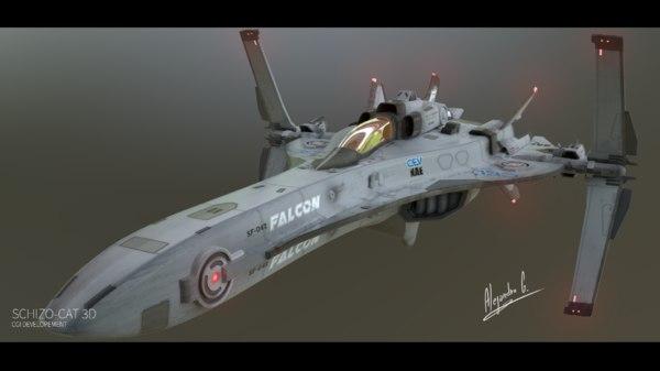 fi star fighter 3d max