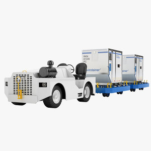 3d aircraft tow tractor model