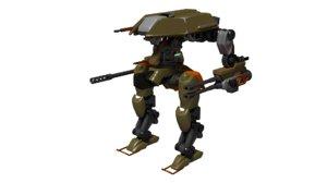 mech robot 3d 3ds
