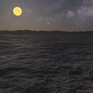 alien landscape planet 3d obj