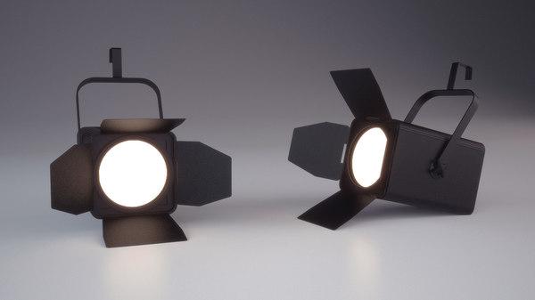 3d model of stage light