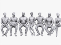 people sitting pack 3d max