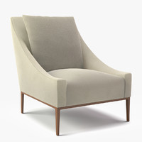 b italia jean arm chair 3d obj