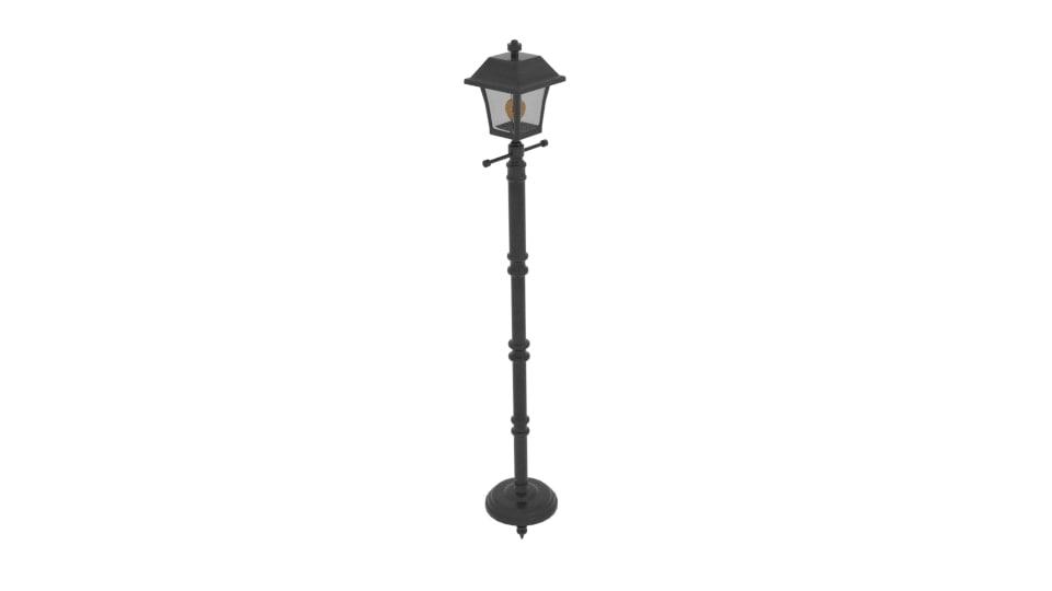 baytown light led post 3d 3ds