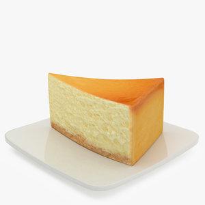 3d model cheesecake cake cheese