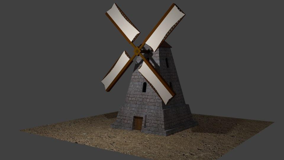 3d windmill wind mil model