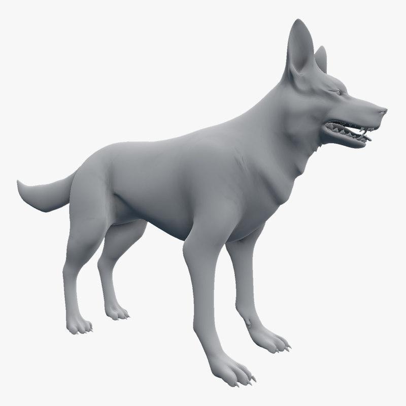 3d model german shepherd