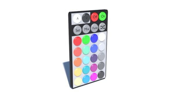 3d model rgb remote control