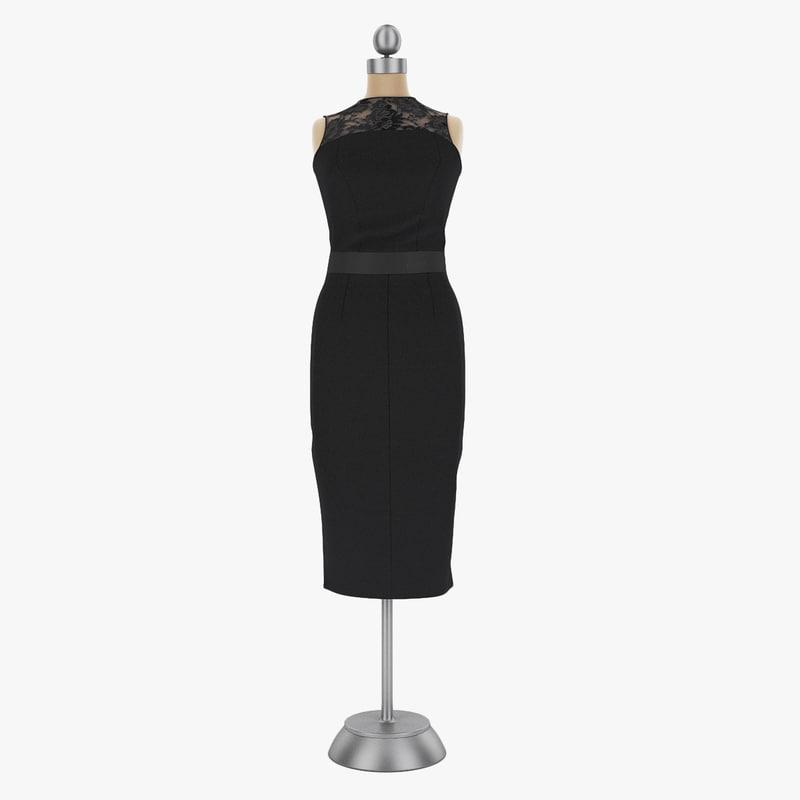 obj dress mannequin 001