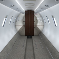 obj realistic interior frame cessna citation