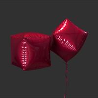 3d cube balloon model