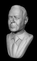 Heydar Aliyev  3D MODEL CG portrait Bust Heydar Aliyev 3 d model