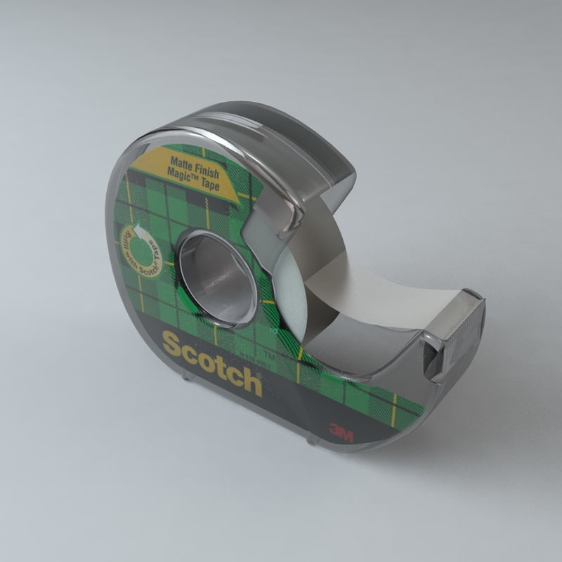 tape dispenser 3d c4d