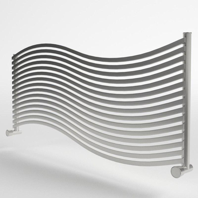 3d model of towel radiator 3