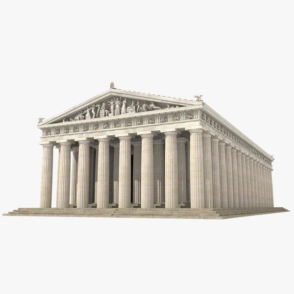 3d parthenon temple landmark model