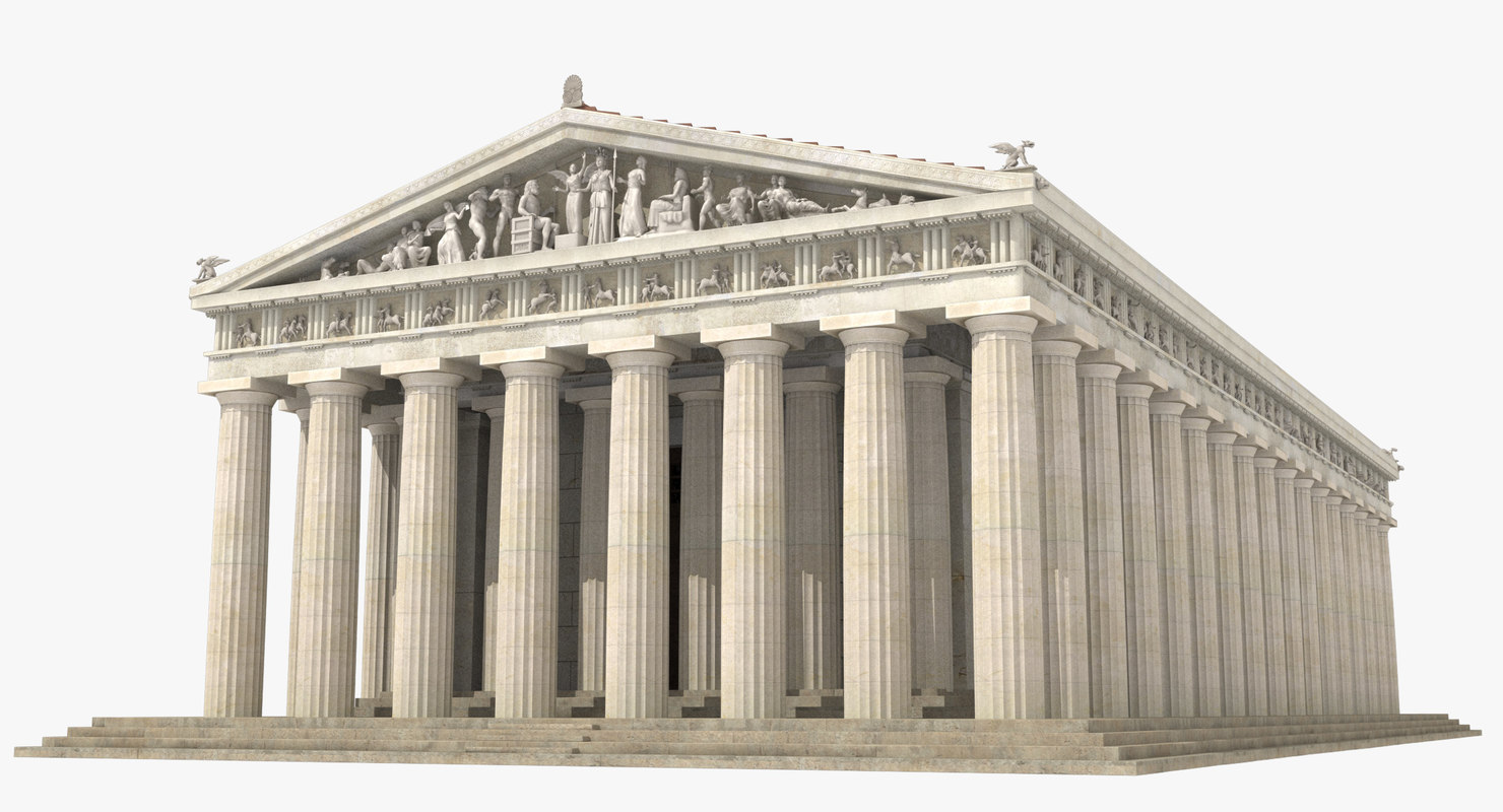3d parthenon temple landmark model