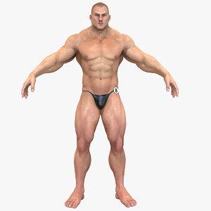 3d bodybuilder character