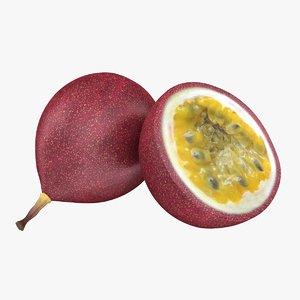 3d realistic passion fruit model