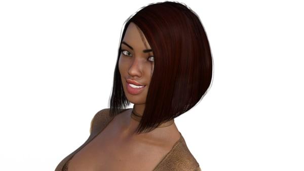 3d model asian woman