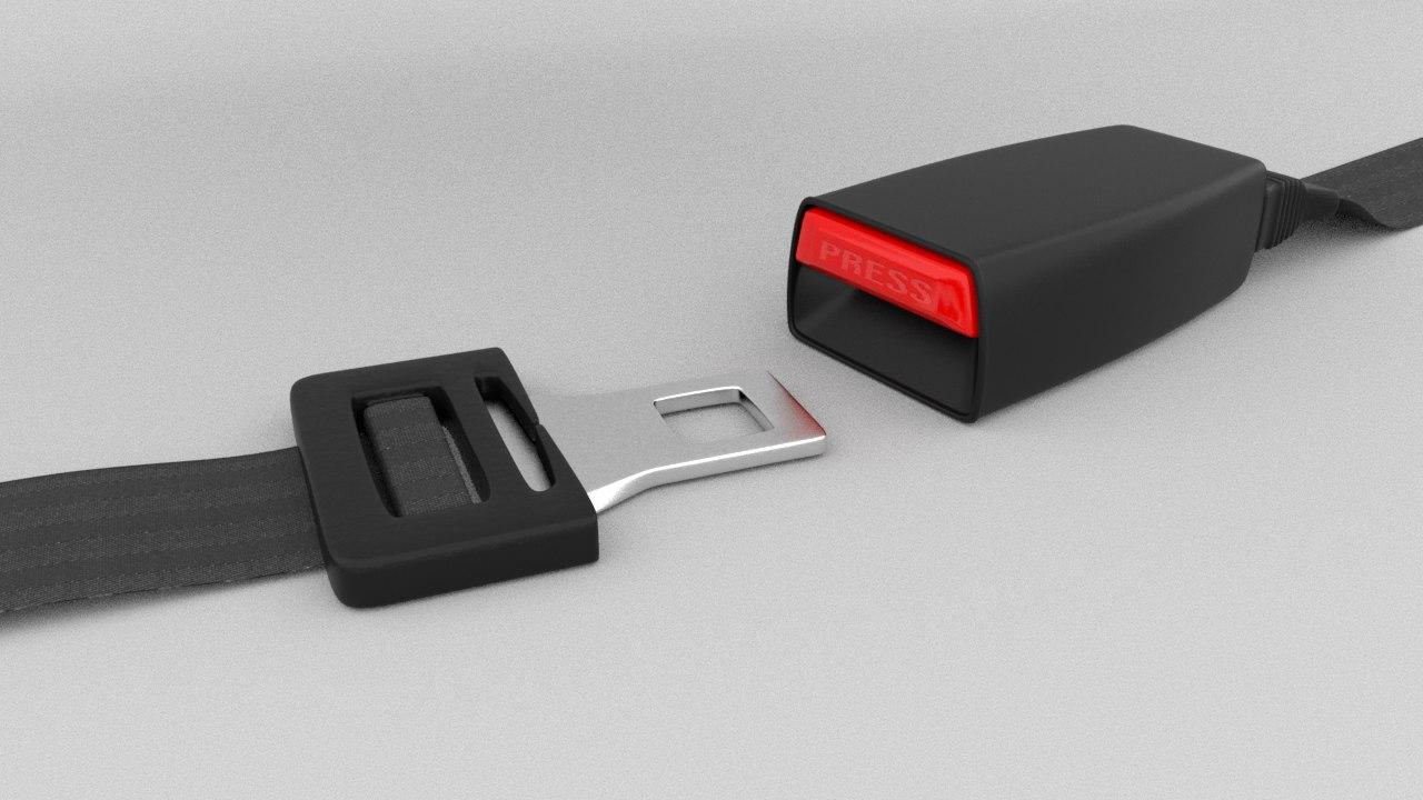3d seatbelt seat belt model