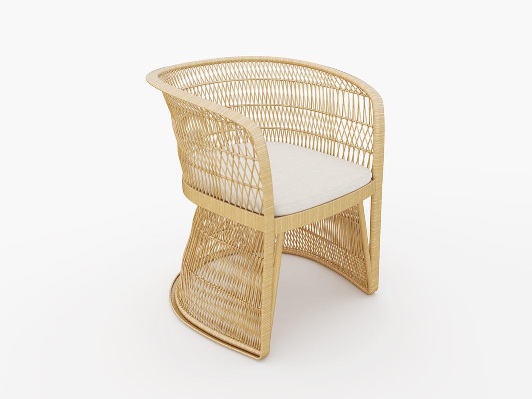 outdoor wicker armchair max