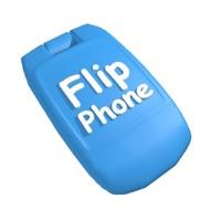 3d model cartoon flip phone