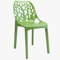 3d model tree plastic chair