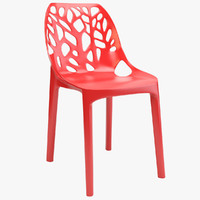 tree plastic chair 3d model