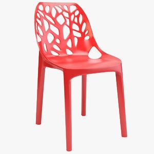 tree plastic chair 3d max