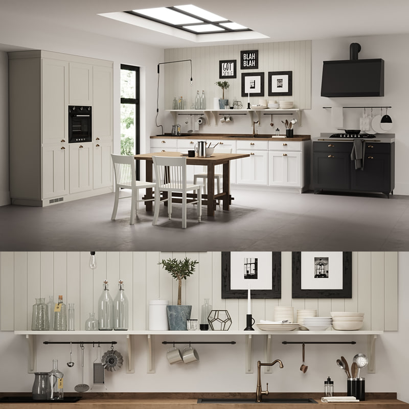 3d model of 1 kitchen scavolini