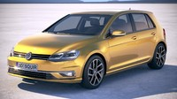 volkswagen golf tdi 3d model