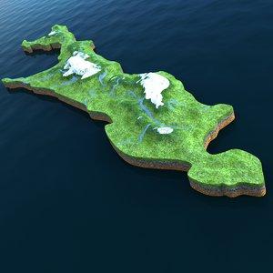 island sakhalin 3d c4d