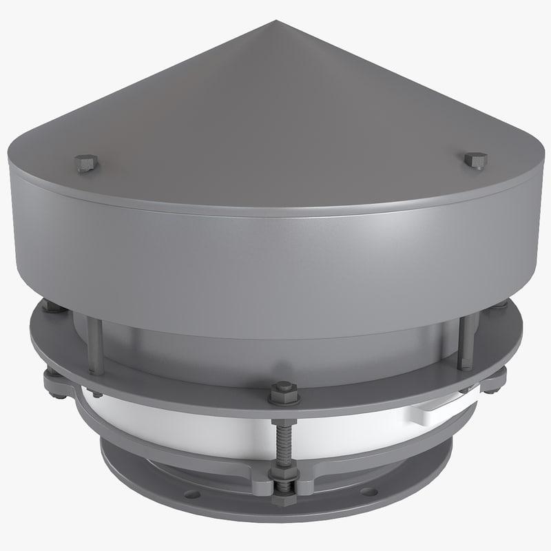 3d model breathing valve