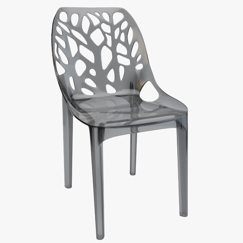 3d max tree plastic transparent chair