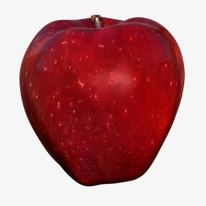 3d apple scanned cleaned retopologized