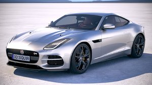 f-type coupe 2018 3d model
